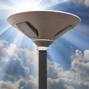 Round Solar Led Street Light Solar Led Garden Light