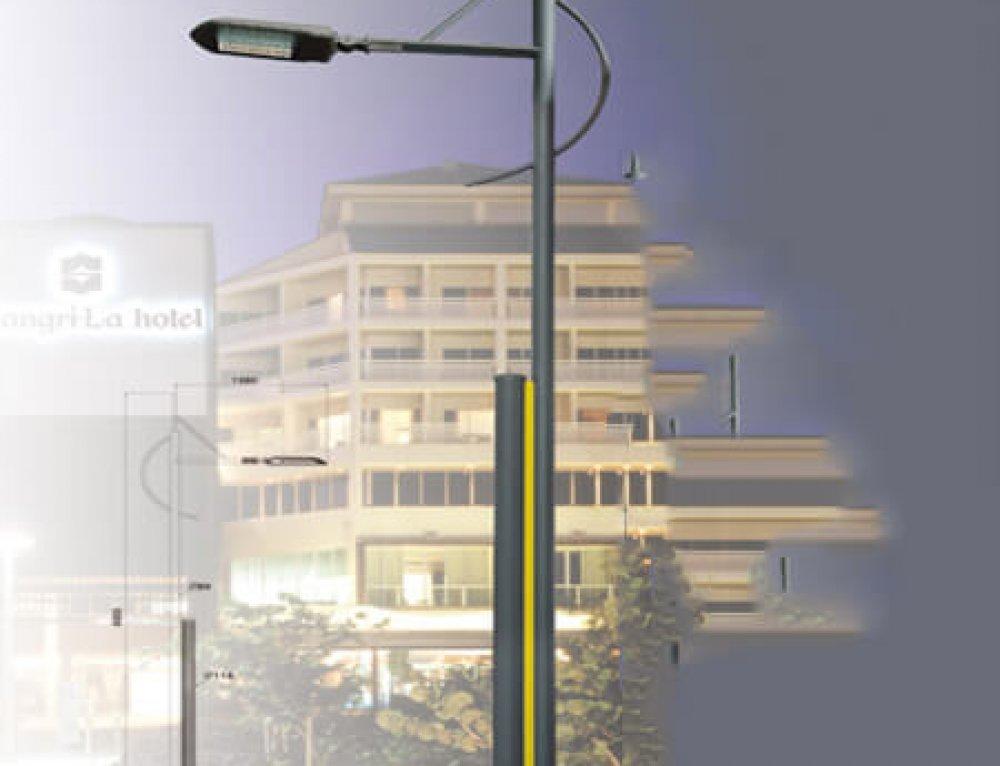 6M 100W LED Street Garden light